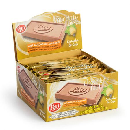 Tablete Chocolate Diet Castanha de Caju 30g